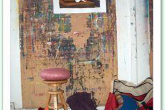 Dans un atelier de peinture